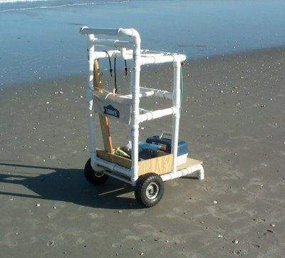 homemade pvc fishing cart